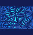 blue polygon crack light technology design
