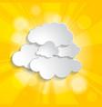 bright yellow abstract festive bokeh sun effect vector image vector image