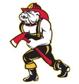 bulldog fireman with axe vector image vector image