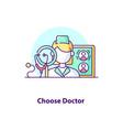 choose doctor creative ui concept icon vector image