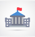 colored bank building trendy symbol vector image