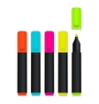 colored markers vector image