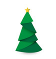 creative christmas tree card origami vector image vector image