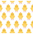 cute baby chicken easter seamless pattern vector image