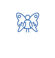 cute fairy line icon concept cute fairy flat vector image