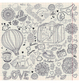 Decorative doodle background vector | Price: 3 Credits (USD $3)