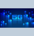 digital 5g technology concept network background vector image vector image