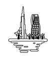 dubai cityscape cartoon vector image