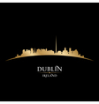 Dublin Ireland city skyline silhouette vector image vector image