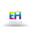 eh e h colorful letter origami triangles design vector image