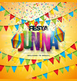 festa junina with party flags paper vector image vector image