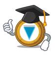 graduation verge coin character cartoon vector image vector image