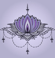 Hand-drawn lotus in east style vector image vector image