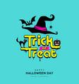 happy halloween day trick or treat message vector image vector image