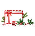 holiday elements frame vector image vector image