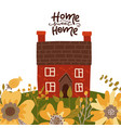 home sweet home - lettering card concept with vector image