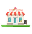ice cream shop vector image vector image