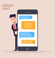 instant messaging service happy businessman or vector image vector image