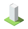 isometric of modern office tall building for icon vector image vector image