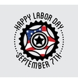 labor day national holiday united states vector image