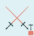 light sword icon vector image