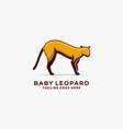 logo baby leopard angry mascot cartoon vector image