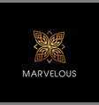 luxury beauty floral elegant logo style sign vector image vector image