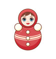 matryoshka babushka doll childrens toy vector image