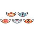 medic masks with animal muzzles cute cartoon pets