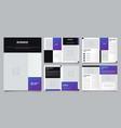 minimalist purple brochure layout template vector image vector image