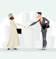 mutual cooperation of businessmen vector image