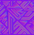 neon geometric pattern vector image vector image