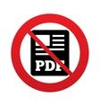No PDF file document icon Download pdf button vector image vector image