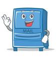 okay mailbox character cartoon style vector image vector image