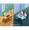 online job talk composition vector image vector image