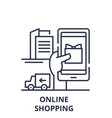 online shopping line icon concept online shopping vector image vector image