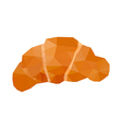 origami croissant vector image vector image