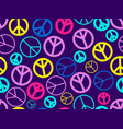peace sign seamless pattern the international vector image vector image