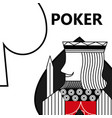 poker card gambling king with sword in sign spade vector image