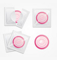 realistic detailed 3d condoms package set vector image vector image