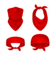 Red bandana cowboy or biker face scarf bandanna
