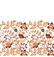 seamless floral banner frame seamless border with vector image vector image