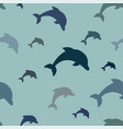 seamless pattern - simple jumping dolphins in vector image