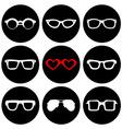 set fashion icons vector image