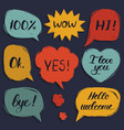 set hand drawn colorful comic speech vector image vector image