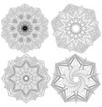set of mandalas vector image vector image