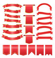 set of red arch banner icon