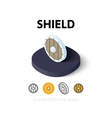 Shield icon in different style vector image vector image