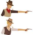 Shooting cowboy vector image vector image