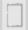 silver shiny vintage square frame isolated on vector image vector image